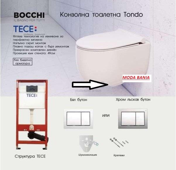 ПРОМО ПАКЕТ BOCCHI TONDO RIMLESS И TECE КАЗАНЧЕ