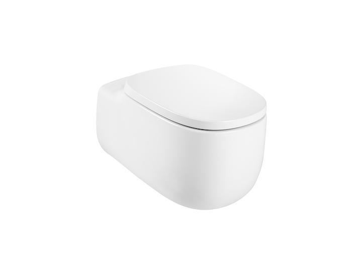 Inspira ROUND - Порцеланова Rimless тоалетна за окачване на стена