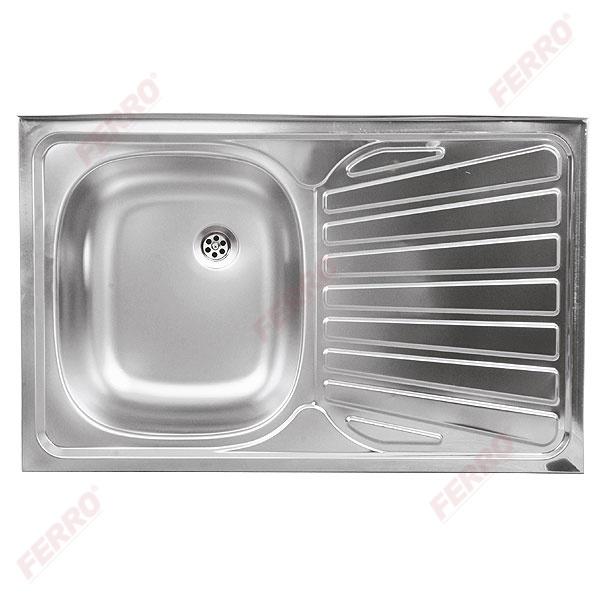 Единична мивка 50x80 см, покритие - лен DR50/80APTS.H