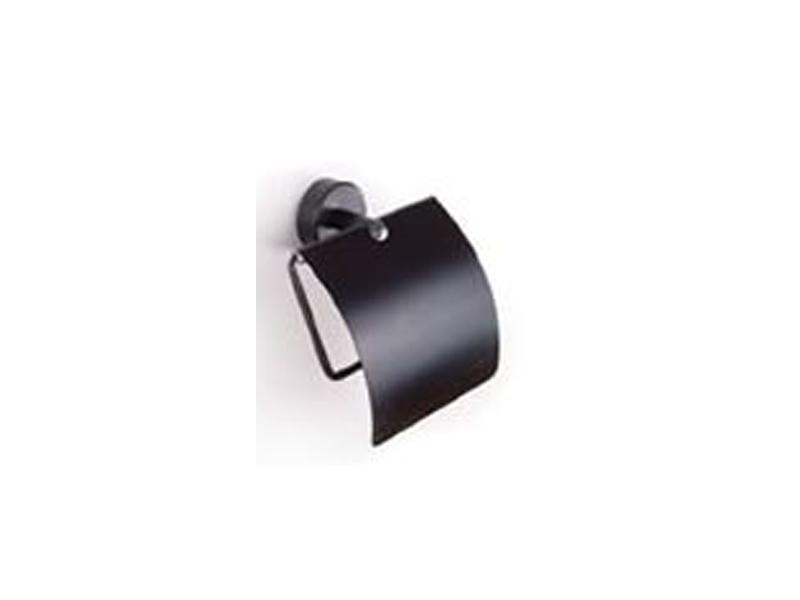 Поставка с капак за WC хартия Moderno Black