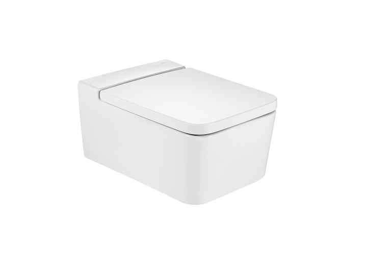Inspira SQUARE - Порцеланова Rimless тоалетна с хоризонтално оттичане, за окачване на стена