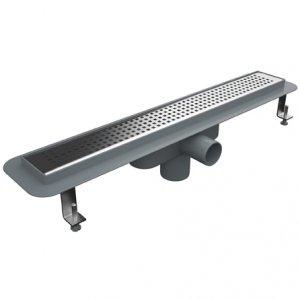 Линеен сифон - серия PLD - 40 см решетка на квадратчета - с пластмасова изолационна пола