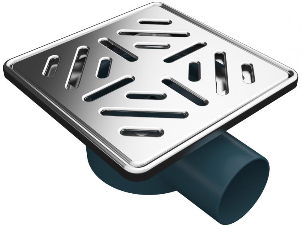 Сифон със страничен изход Ø50, 150x150  3003-50