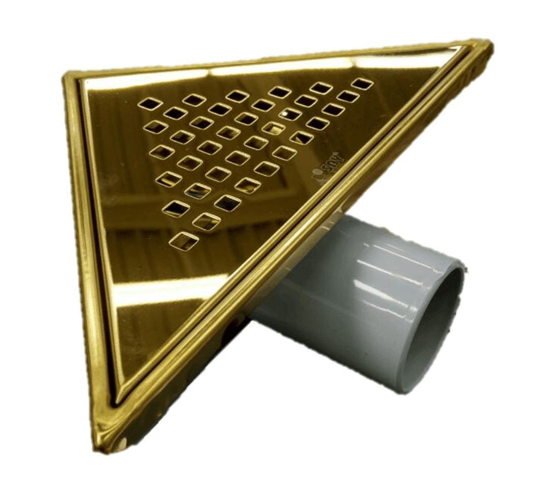 Триъгълен сифон - златен