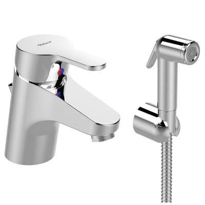 Смесител стоящ за умивалник с хигиеничен душ SEVA NEXT