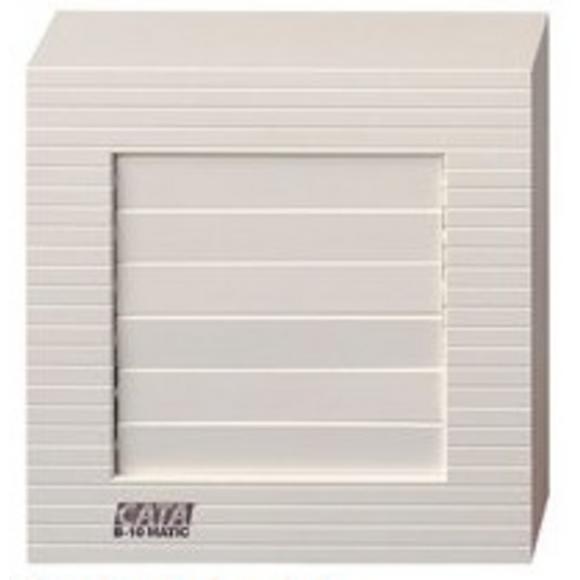 110204 B-10 MATIC вентилатор ф100 бял с клапа