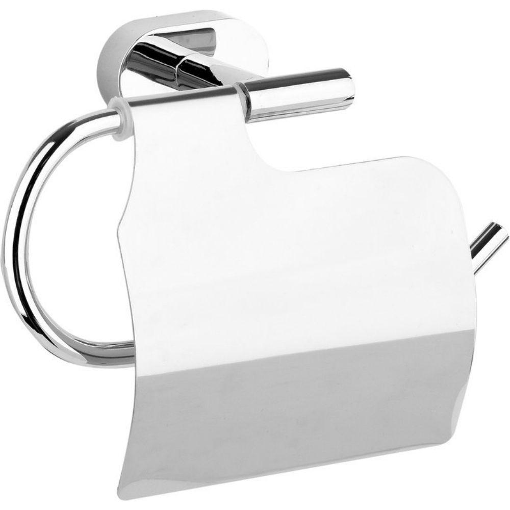 Поставка за тоалетна хартия с капак FALA, хром