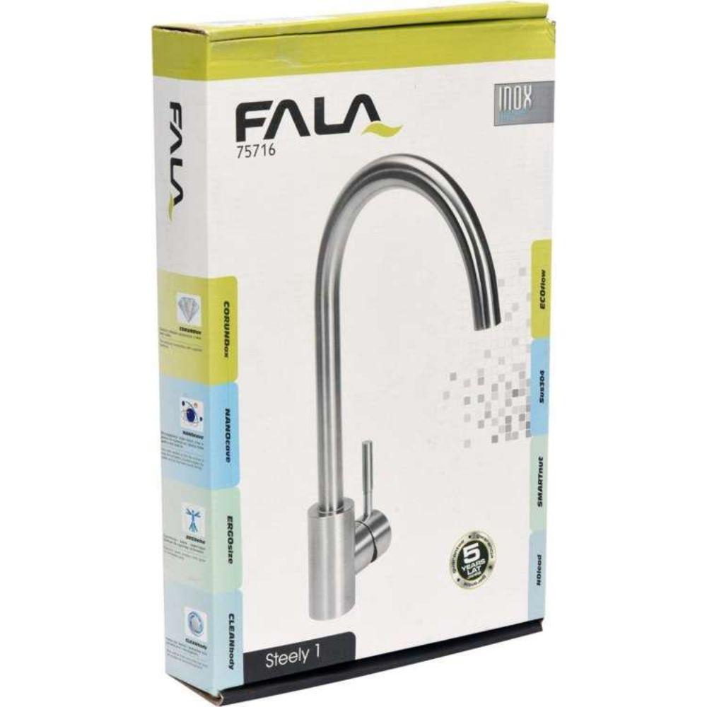Кухненски смесител FALA, Inox, Steely 1