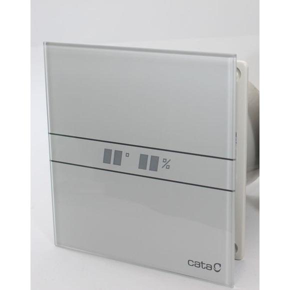 056823 E-120 GTH Hygro Вентилатор с датчик за влага и таймер + ел. дисплей Ф120 бял