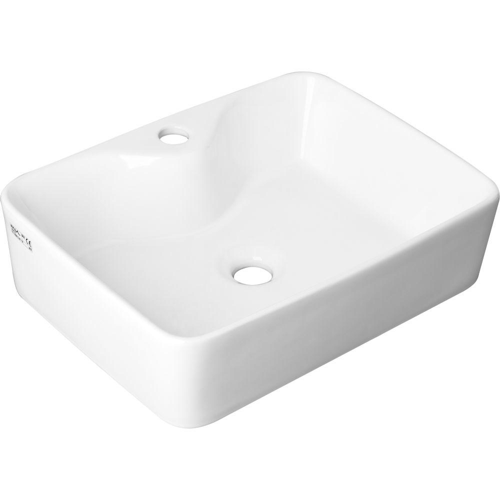 Мивка върху плот за баня FALA, TIP, 480 x 370 x 130 мм