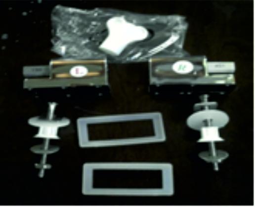 Метални планки за тоалетна седалка - 1012В