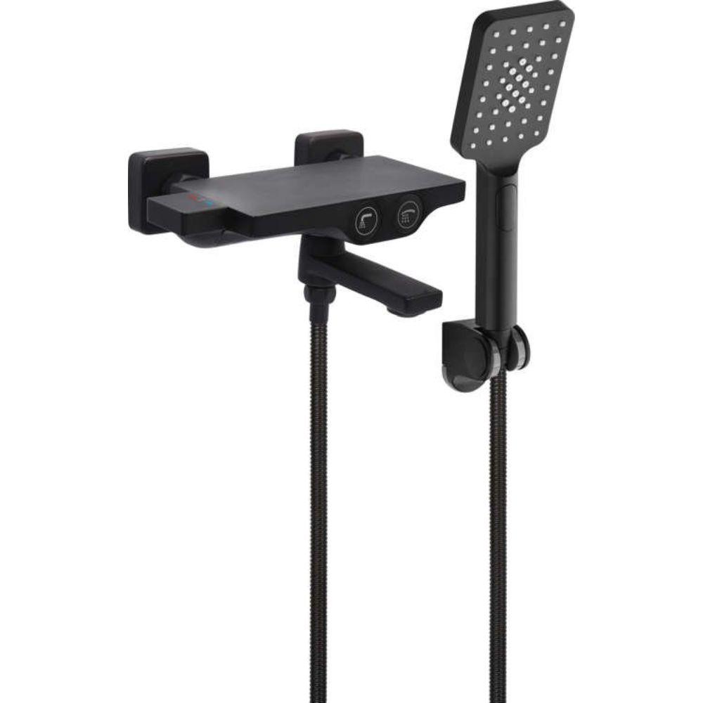 Термостатен смесител за душ / вана със слушалка FALA NOIR 2