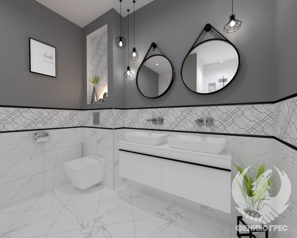 ПЛОЧКИ ЗА БАНЯ СЕРИЯ Classic Carrara 30x60 (Гланц)
