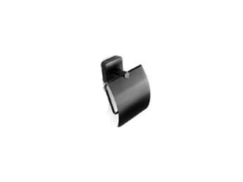 Държач за тоалетна хартия с капак Quattro Black
